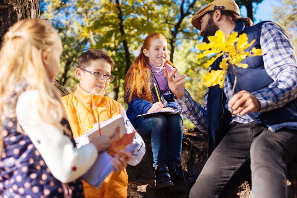 Ausflug mit der Kita, im Wald mit Kindern, Natur mit Kindern genießen