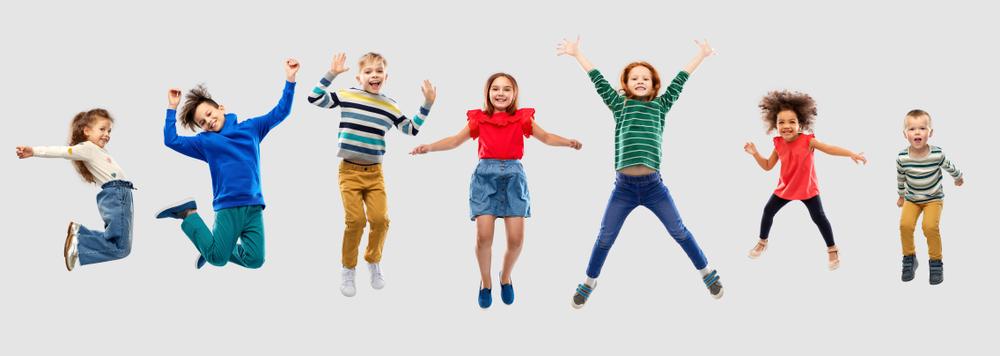Bewegung macht Kindern Spaß und sorgt für gesunde Entwicklung.
