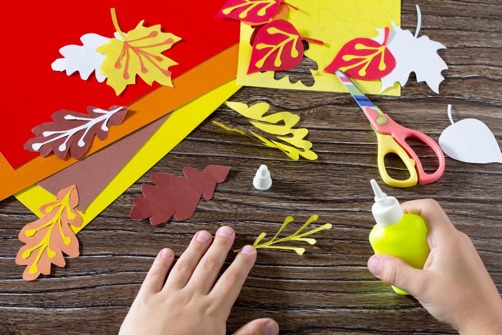 Bastelideen für Kinder, im Herbst mit Kindern basteln, kreativ mit Kindern im Herbst