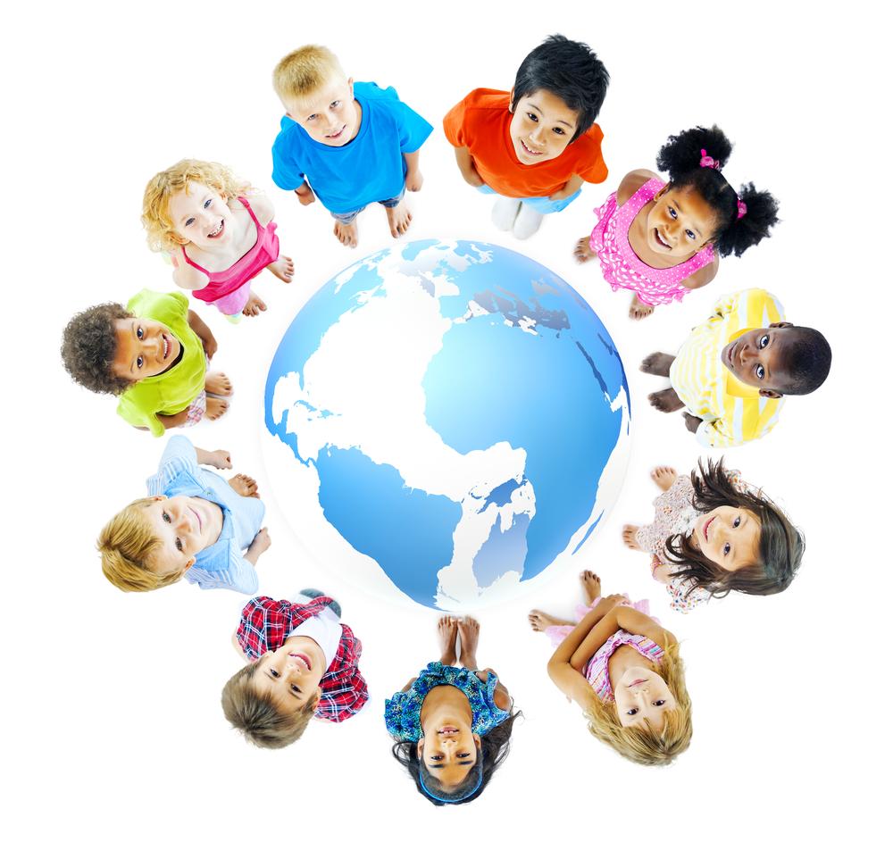 Kinder lernen über andere Kulturen im Kindergarten