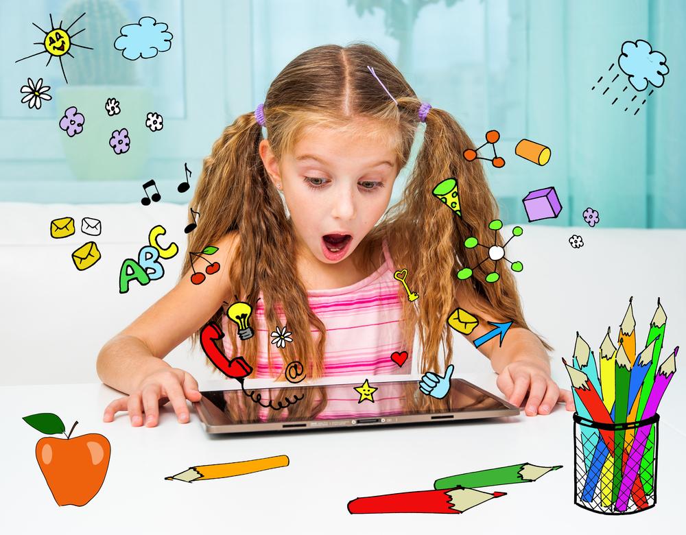 Tablet im Kindergarten, Spiele fürs Tablet, Malen mit Tablet