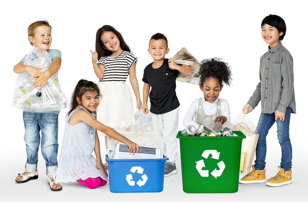 Dinge nochmal benutzen - Kinder und Recyling