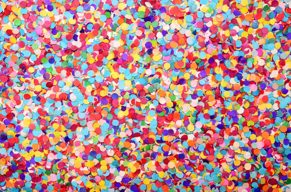 Malen mit Konfetti, Konfetti zu Karneval im Kindergarten, Konfetti und Kita